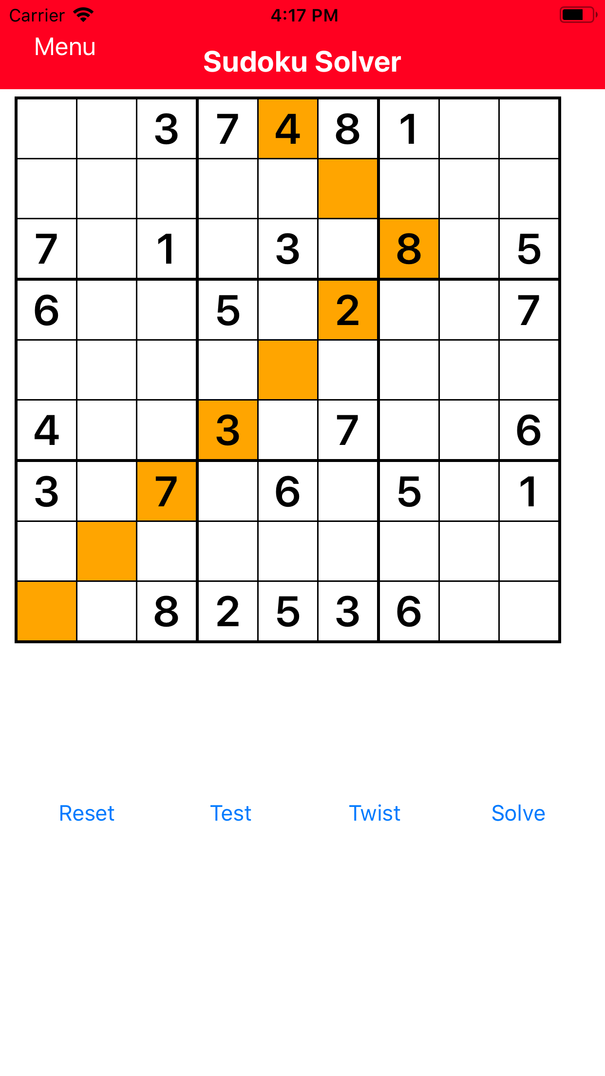 SudokuSolverVersion2Screenshot1