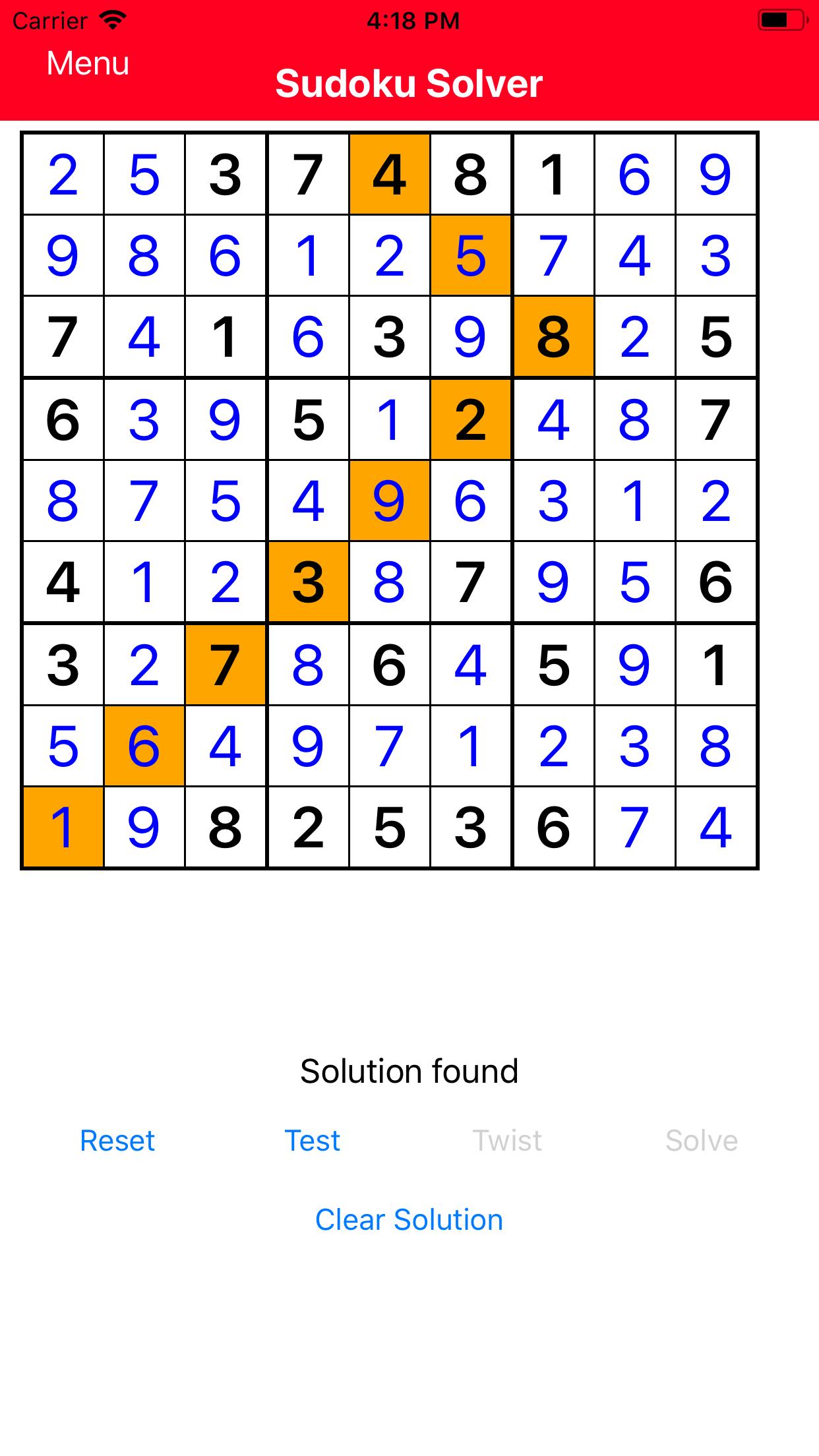 SudokuSolverVersion2Screenshot2