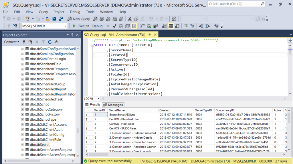 Using SQL Server Management Studio